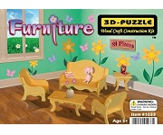 Miniature Furniture - 3D Jigsaw Woodcraft Kit Wooden Puzzle
