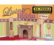 Living Room Miniature Furniture - 3D Jigsaw Woodcraft Kit Wooden Puzzle