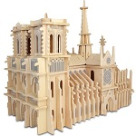 Notre Dame Cathedral  - 3D Woodcraft Kit Puzzle