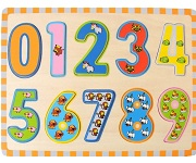 Numbers Animals Count - Raised Wooden Puzzle
