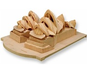 Opera House In Sydney - 3D Jigsaw Woodcraft Kit Wooden Puzzle