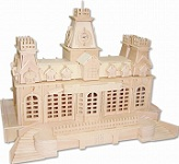 Train Station - 3D Jigsaw Woodcraft Kit Wooden Puzzle