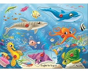 Underwater World - Wooden Peg Puzzle