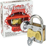 Houdini Ace Of Hearts Lock - Metal Trick Lock Puzzle Brain Teaser