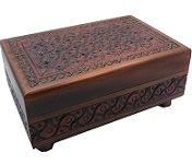 Artistic Carved - Secret Wooden Puzzle Box