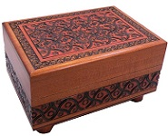 Artistic Carved - Square Secret Wooden Puzzle Box