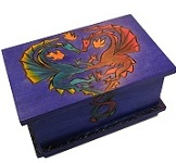 Dragons In Love - Secret Wooden Puzzle Box