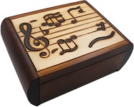 Music - Secret Wooden Puzzle Box