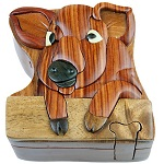 Pig - Secret Wooden Puzzle Box