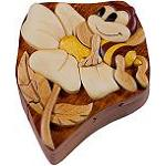 Bee On Flower - Secret Wooden Puzzle Box