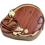 Football Helmet - Secret Wooden Puzzle Box