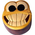 Smiley Face - Secret Wooden Puzzle Box
