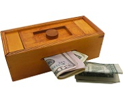 Mysterious Puzzle Box No. 2 - Money Gift Trick Box