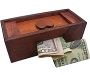 Mysterious Puzzle Box No. 4 - Money Gift Trick Box