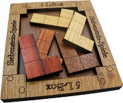 5 L-Box Wooden Brain Teaser Puzzle Packing Problem
