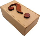 Question Mark - Wooden Secret Box Brainteaser Puzzle