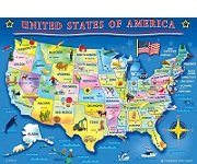 USA Map - 60 Pieces Jigsaw Puzzle By Springbook