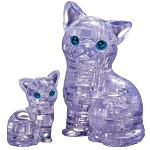 3d Crystal Puzzle Cat with Kitten