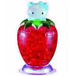 3d Crystal Puzzle Hello Kitty Strawberry