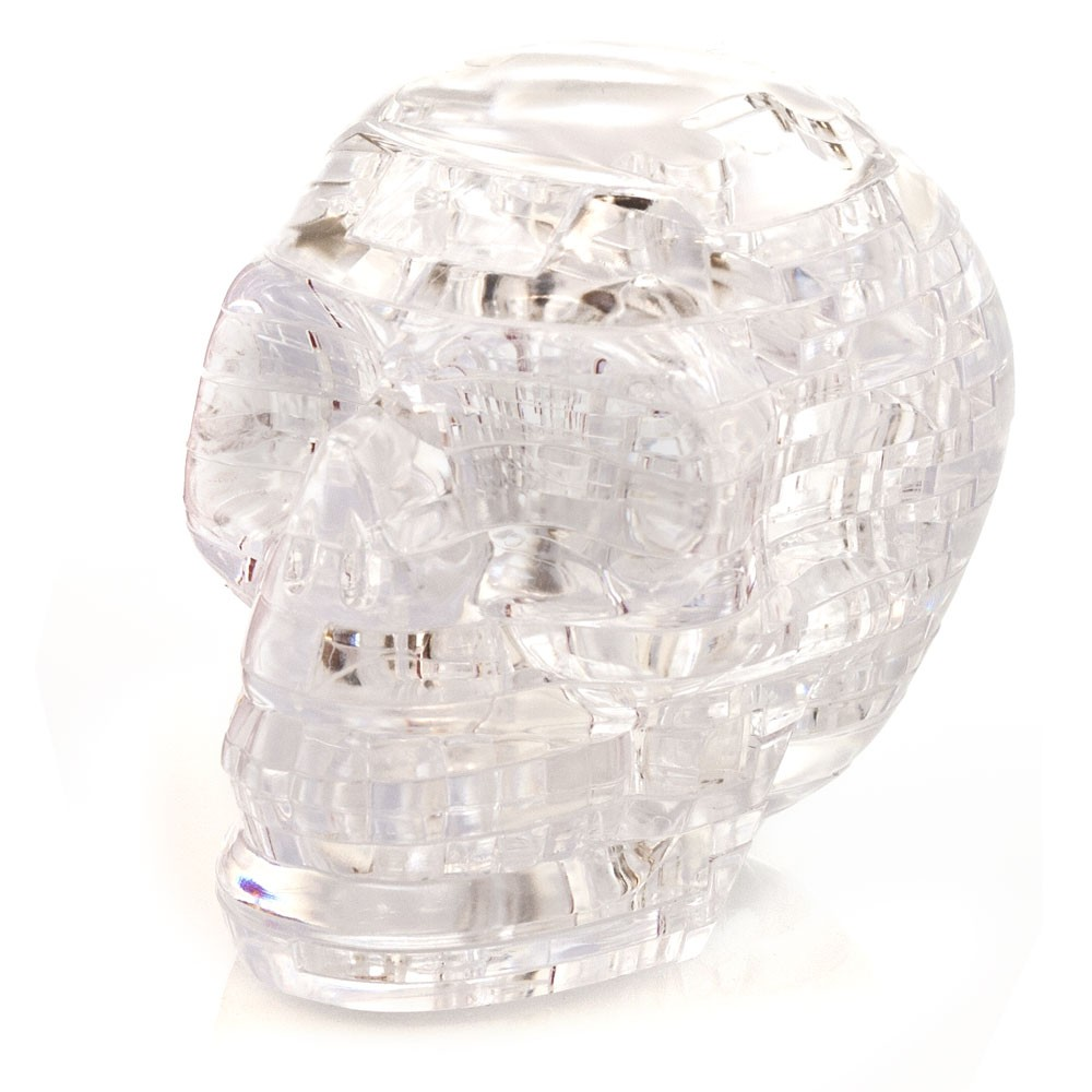 3d Crystal Puzzle Skull Clear