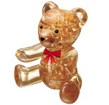 3d Crystal Puzzle Teddy Bear Gold