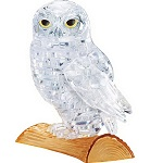 3d Crystal Puzzle Owl - White Color
