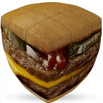 Burger Cube - V-Cube 3x3 Pillowed Twisty Puzzle