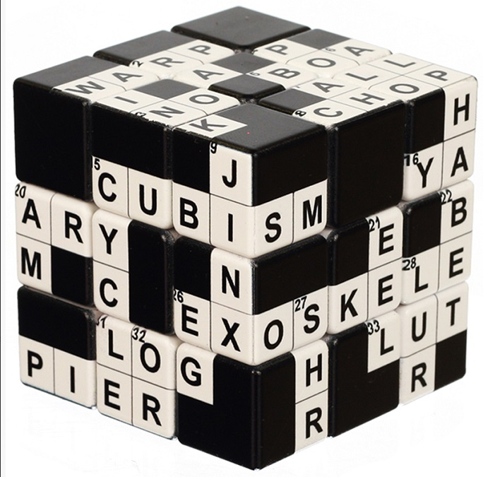 V Cube v cube crossword 3x3 flat cube twisty puzzle
