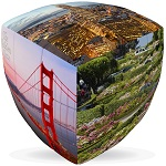 San Francisco City Cube V-Cube 3x3 Pillowed Twisty Puzzle