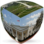 Washington DC Cube V-Cube 3x3 Pillowed Twisty Puzzle