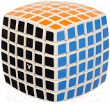 V-Cube 6x6 White Pillow Multicolor Cube Puzzle