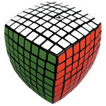V-Cube 8 Black Pillowed Multicolor Cube Puzzle