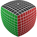 V-Cube 9 White Pillowed Multicolor Cube Puzzle