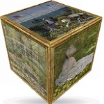 V-Cube 3x3 Monet Art Cube Flat - Twisty Puzzle