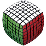 V-Cube 7 Black Pillowed Multicolor Cube Puzzle