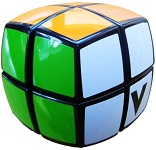 V-Cube 2 Black Pillowed Multicolor Cube Puzzle