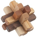 Walnut Hill 12 Pieces - Wooden Puzzle Brain Teaser