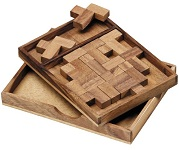 11 F's Puzzle - Wooden Brain Teaser Puzzle