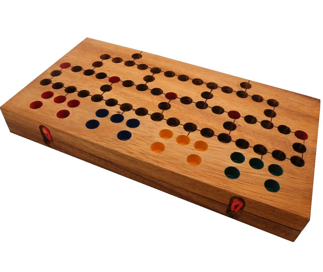 Wood Board Games ~ Barricade wooden strategy board game