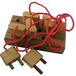Plugboard - String Wooden Puzzle Brainteaser