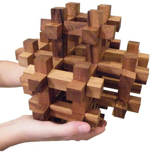 3D Wooden Puzzle Brain Teaser