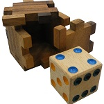 Hidden Dice Cube - Interlocking Wooden Puzzle