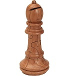 Bishop Chess 3D Jigsaw Wooden Puzzle Brain Teaser