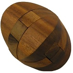 Elaborated Cube - Brain Teaser Wooden Puzzle