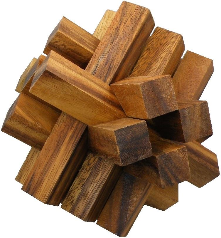 Enormous Crystal Bricks - Wooden Brainteaser Puzzle