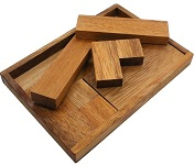 "Find the ""T"" With Wooden Tray - Wooden Brainteaser Puzzle"