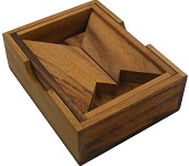 H Letter With Wooden Box - Wooden Puzzle Brain Teaser