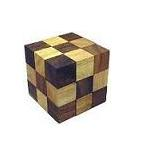 Snake Cube (Small) Brain Teaser Wooden Puzzle