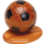 Soccer Ball 3d Wooden Puzzle Sports With Trivia Cards