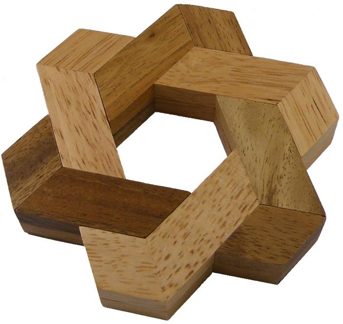 Star of David - Wooden Puzzle Brain Teaser   eBay